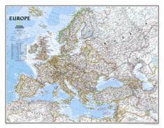National Geographic Evropa - nástěnná mapa Classic 118 x 92 cm