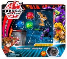Spin Master Bakugan Pack 5 sztuk z akcesoriami Darkus Cyndeos i Aurelus Trox