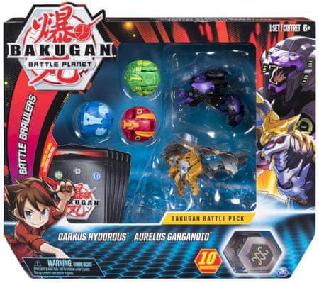 Spin Master Bakugan 5 db-os csomagolás kiegészítőkkel Darkus Hydorous és Aurelus Garganoid