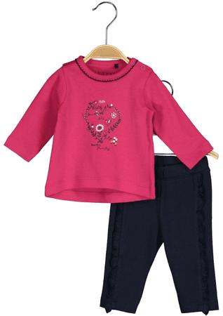 Blue Seven dekliški komplet, 68, črna/roza