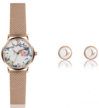 Emily Westwood set dámskych hodiniek a náušníc EWS036