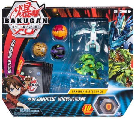 Spin Master Bakugan 5 db-os csomagolás kiegészítőkkel Haos Serpenteze és Ventus Howlkor