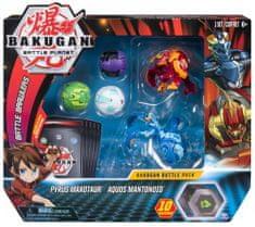 Spin Master Bakugan Pack 5 sztuk z akcesoriami Pyrus Maxotaur i Aquos Mantonoid