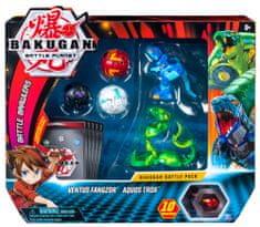 Spin Master Bakugan Pack 5 sztuk z akcesoriami Ventus Fangzor i Aquos Trox