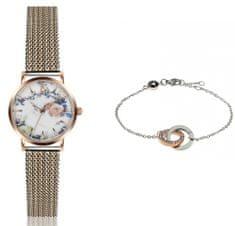 Emily Westwood set dámskych hodiniek a náramku EWS037