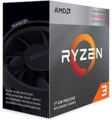 AMD Ryzen 3 3200G, Wraith Stealth hladilnik, 65 W, BOX procesor (YD3200C5FHBOX)