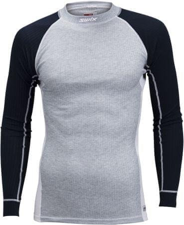 Swix muška sportska majica s dugim rukavima RaceX (40811), M, siva