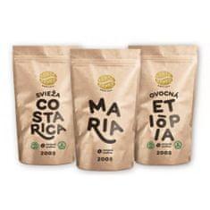 Zlaté Zrnko - Spoznaj na filtrovanú kávu 600g (Mária, Kolumbia, Etiópia)