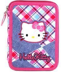 Target Felszerelt Hello Kittys iskolai tolltartó, színes kockák, rózsaszín
