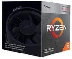 AMD Ryzen 5 3400G, Wraith Spire hladilnik, 65 W, BOX procesor (YD3400C5FHBOX)