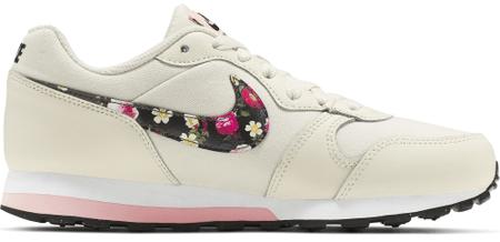 Nike dekliški športni copati MD Runner 2 Vintage Floral, 35,5, bež