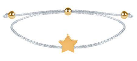 Troli Zapestnica iz vrvice z zvezdico belo / zlato