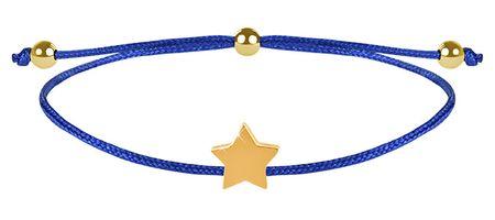Troli Zapestnica iz vrvice z zvezdico modra / zlata