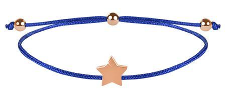 Troli Zsinór - karkötő kék/bronz csillag medállal