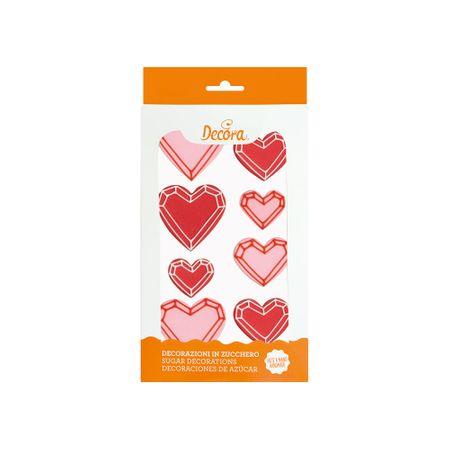 Decora Cukrové zdobení srdce 8ks