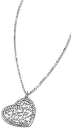 Lotus Style Jeklena ogrlica v obliki srca LS1668-1 / 1