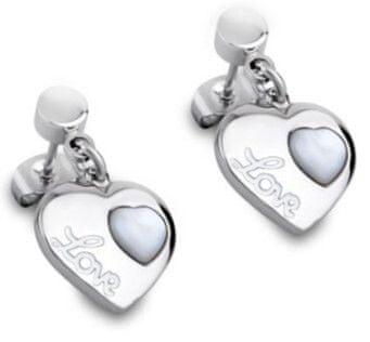 Lotus Style Szív alakú fülbevaló gyöngyházzal LS1748-4 / 1