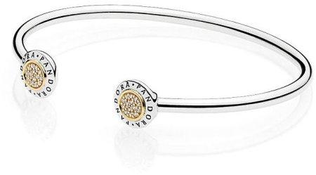 Pandora Szilárd ezüst karkötő 596274GB kristályokkal (hossz 17,5 cm) ezüst 925/1000