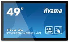 iiyama ProLite LED LCD monitor, 124,5cm, IPS 4K UHD, na dotik, z zvočniki (TF4938UHSC-B1AG)