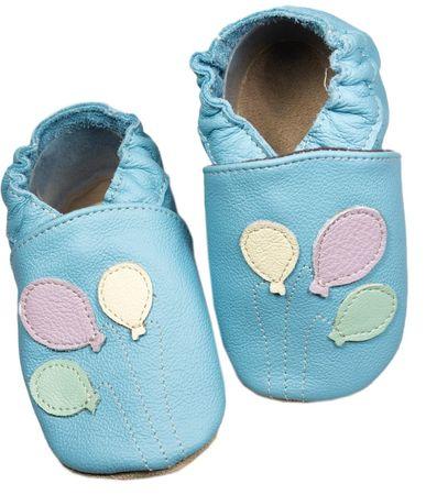 baBice kapcie dziecięce z balonami 22,5 niebieskie