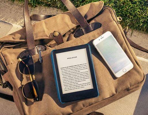 Czytnik e-booków Amazon Kindle Touch 2020, dotykowy ekran e-ink, atrament elektroniczny, podświetlenie LED