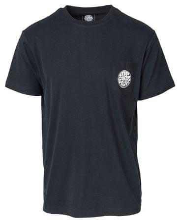 Rip Curl Original Wetty SS Pocket Tee moška majica s kratkimi rokavi, črna, M