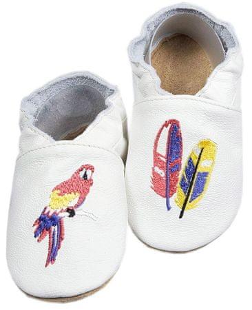 baBice dětské capáčky s papouškem 20.5 bílá