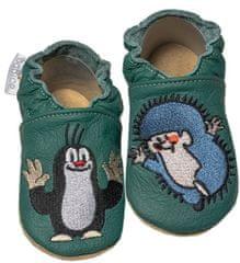 baBice papuče za djecu s Krtekom i ježom, tamno zelena