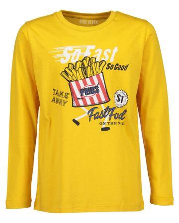 Blue Seven chlapecké tričko s potiskem 152 žlutá
