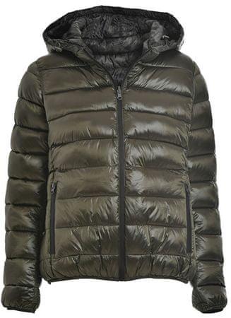 Deha Női kabát Nyomtatott bélelt kabát Reversib B64880 Olive Gray (méret S)