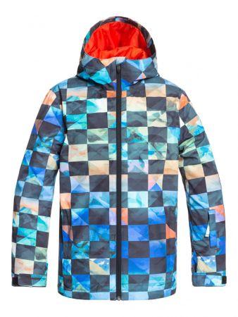Quiksilver chlapčenská bunda Mission printed youth 134 modrá