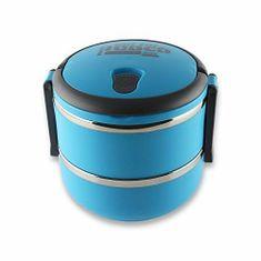 Pioneer dvokatna kutija za ručak, okrugla, nehrđajući čelik, plava