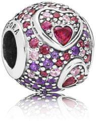 Pandora Luksusowy lśniący koralik 797826 CZ RMX srebro 925/1000