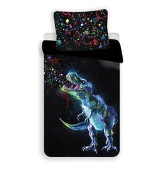 Jerry Fabrics dinosaur dječja posteljina, crna
