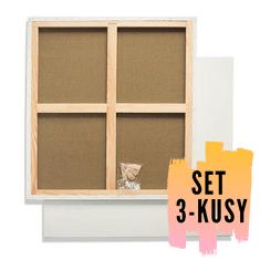 Malířské plátno na rámu 60 x 80 cm 320g/m2, 3 kusy