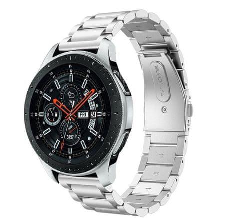 eses pasek metalowy do Samsung Galaxy Watch 46mm/Samsung Gear s3/Huawei Watch 2 1530001062, srebrny