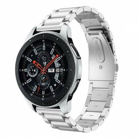 eses 1530001061 kovinski pašček za Samsung Galaxy Watch 42 mm/Samsung Gear Sport/Garmin Vivoactive 3, srebrn