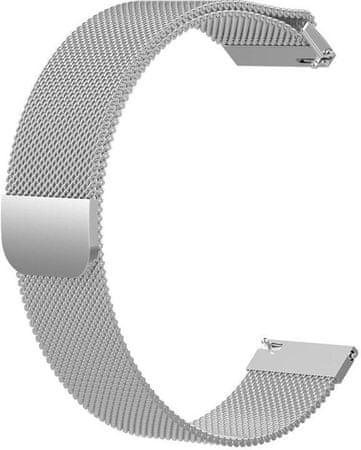 eses 1530001048 pašček z milanskim potiskom za Samsung Galaxy Watch 46 mm/Samsung Gear S3/Huawei 2, srebrn