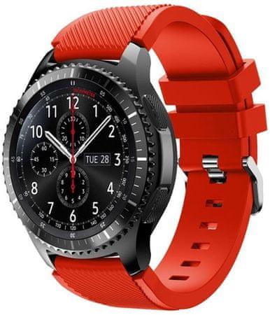 eses pasek silikonowy do Samsung Galaxy Watch 46mm/Samsung Gear S3 1530001034, czerwony