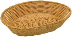 Fackelmann pletena košarica 28 x 22 x 6 cm, plastika