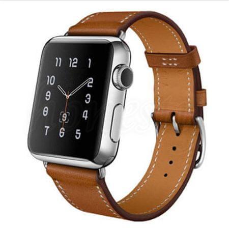 eses športni pašček za apple watch 1530000193, usnjen, 42 mm, rjav