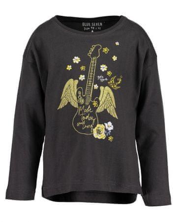 Blue Seven dívčí tričko 92 antracitová