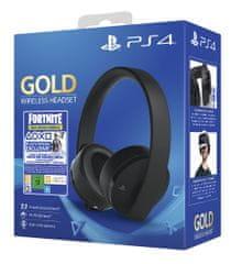 Sony Gold za PlayStation 4 bežične stereo slušalice, crne + 500 V-Bucks Fortnite