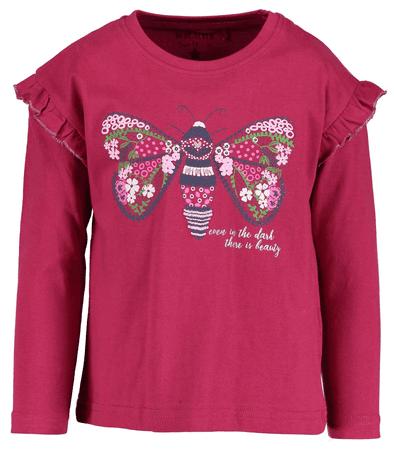 Blue Seven dívčí tričko s motýlem 92 růžová