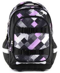 Target ljubišasto crna školska torba