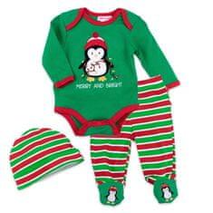 Just Too Cute fantovski komplet z bodijem z božičnim motivom, 3-delni