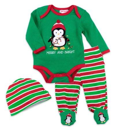Just Too Cute chlapčenský trojkomplet s tučniakom 62 viacfarebná