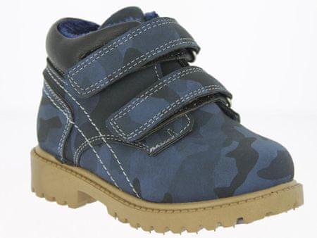 V+J dětská kotníková obuv 22 tmavě modrá