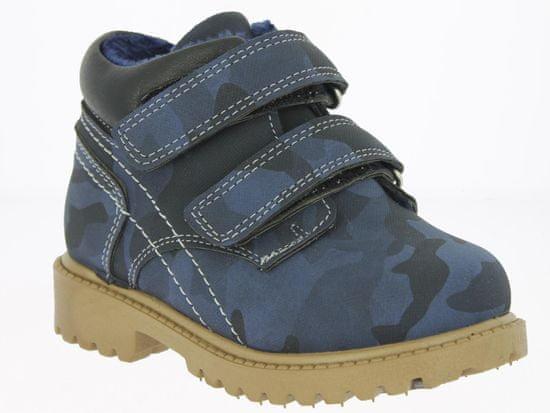 V+J dětská kotníková obuv 23 tmavě modrá