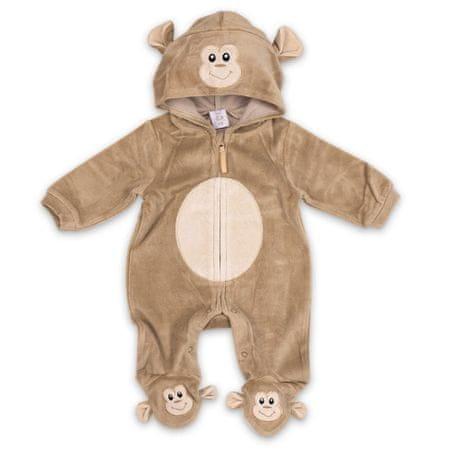 Just Too Cute otroški pajac Opica, 68, rjav